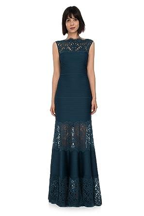 65fd8f9356aa Tadashi Shoji Womens Lace-Insert Tiered Sheath Dress at Amazon ...