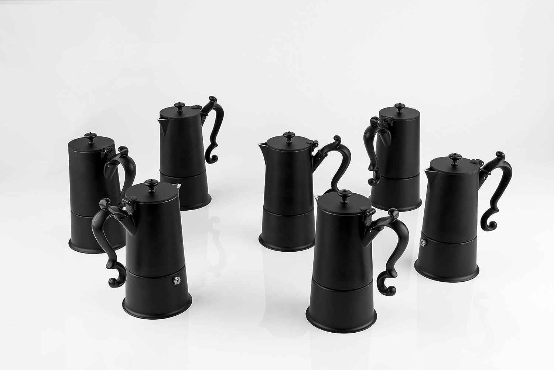 KnIndustrie Lady Anne Black coffee maker 4 Cups Aluminium