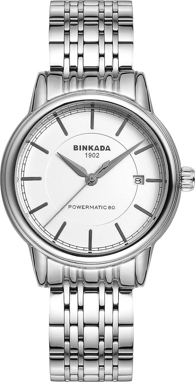BINKADA自動機械ホワイトダイヤルメンズ腕時計# 709501 – 1 B01DZLYMZO
