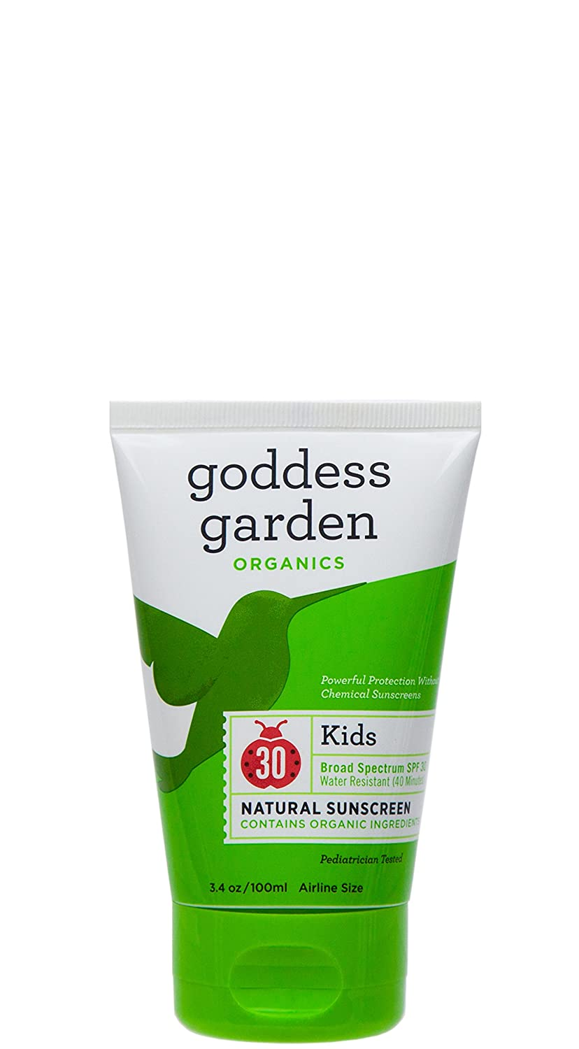 Goddess Garden Organics SPF 30 Kids Natural Mineral Sunscreen Lotion for Sensitive Skin Reef Safe, Water Resistant, Vegan, Leaping Bunny Certified Cruelty-Free, Non-Nano
