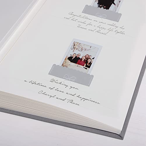 Polaroid Wedding Guest Book.Wedding Polaroid Guestbook Gray With White Lettering Pocket Sign In Book By Liumy