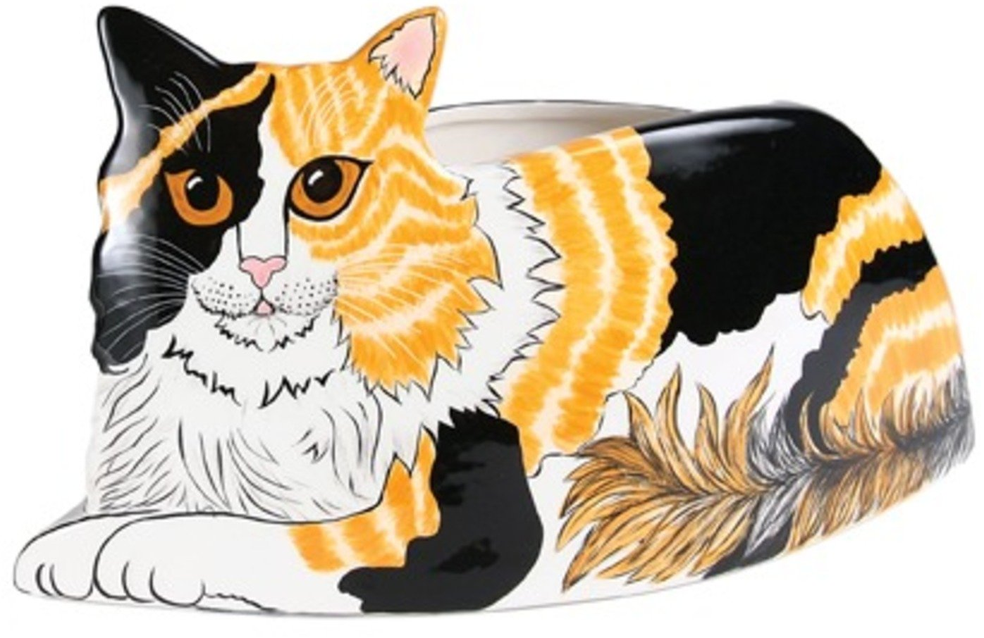 Rescue Me Now Pavilion Gift, Calico Cat Planter Vase, 6-1/2-Inch Tall
