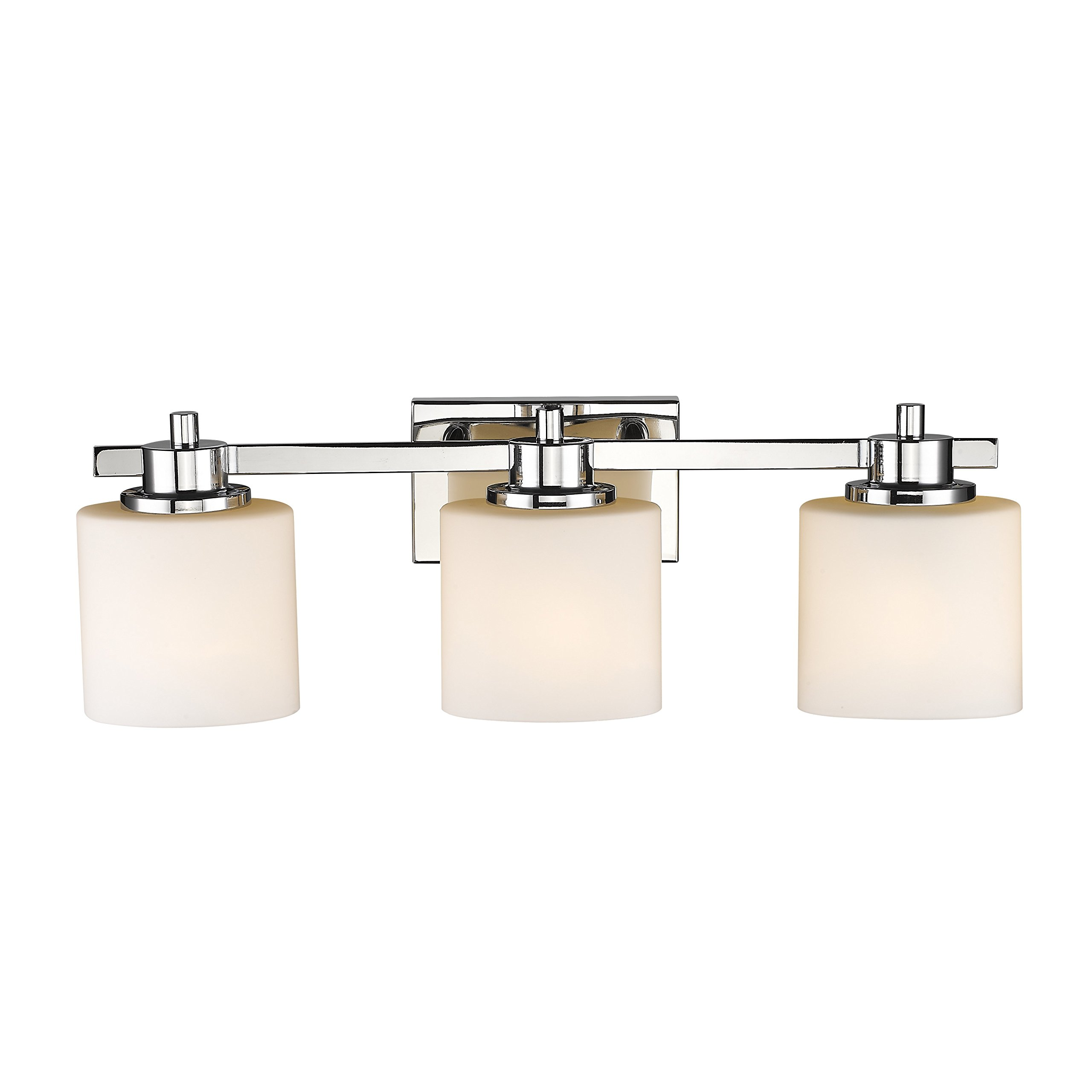 Chloe Lighting CH821036CM24-BL3 Contemporary 3 Light Chrome Finish Bath Vanity Wall Fixture White Alabaster Glass 24'' Wide by Chloe Lighting (Image #4)