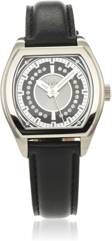 Breil TW0564 - Reloj analógico de Cuarzo para Mujer con Correa de Piel, Color Negro