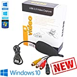 Tech Stor3 USB 2.0 Audio / Video Grabber new version / new software (compatible with Windows 10) VHS video adapter to record your old VHS