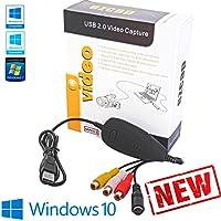 Tech Stor3 USB 2.0 Digital Audio Video Grabber Neuversion/Neues Software Kompatibel mit Windows 10 und VHS-Videoadapter Zum Aufzeichnen Ihrer Alten VHS Grabber VHS Nuovo
