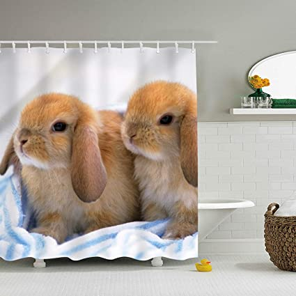 Image Unavailable Not Available For Color Bunny Shower Curtain
