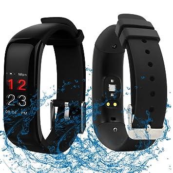 f1148d2309ab Reloj Deportivo con Smart Watch y cronómetro funciones, fitness de pulsera  resistente al agua de consumo de calorías podómetro Dormir Supervisión ...