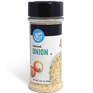 Amazon Brand - Happy Belly Minced Onion, 2.85 Ounces