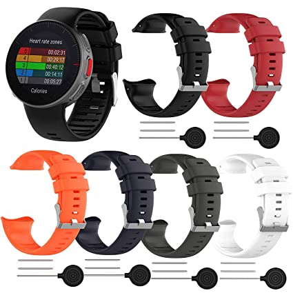 Compatible with Polar Vantage V Bands, Replacement Wrist Bands Accessory  Soft Silicone Sport Breathable Air Hole Water-Proof Straps with Tool and  Pin