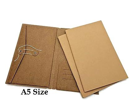 c236f9a79e85 Amazon.com : A5 Size Kraft Folder Credit Card Holder + Paper Refills ...