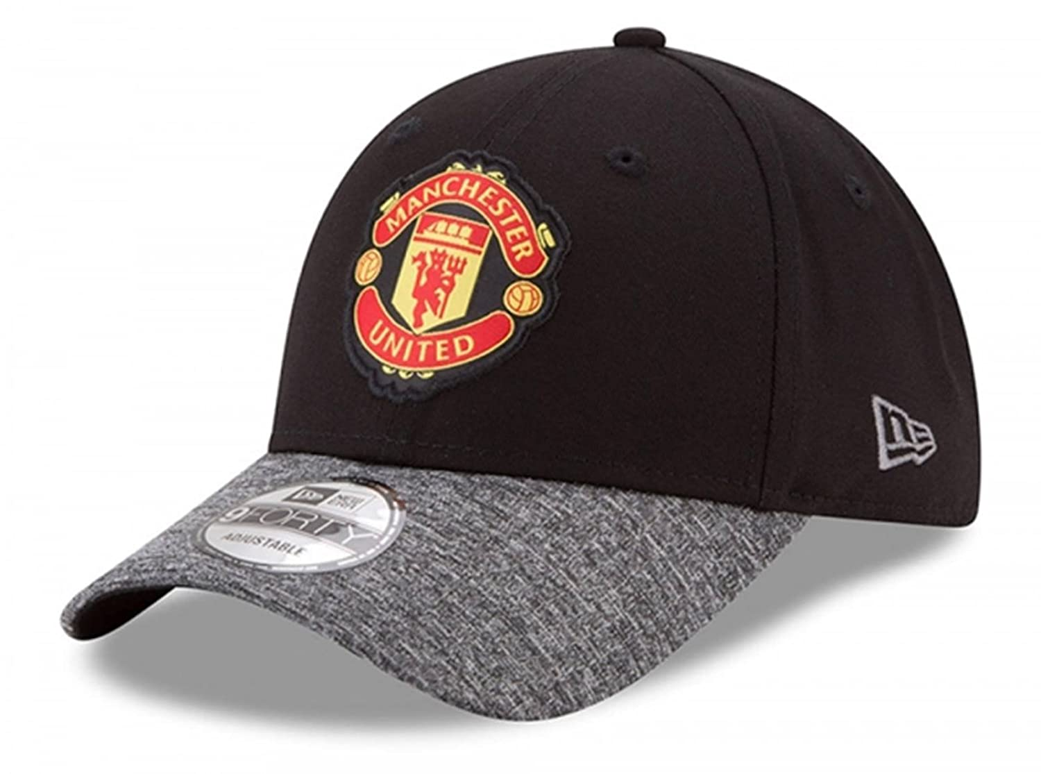 a1067c9c5 New Era 9Forty Officially Licensed Manchester United FC Soccer League Club  Black/Grey Adjustable Hat