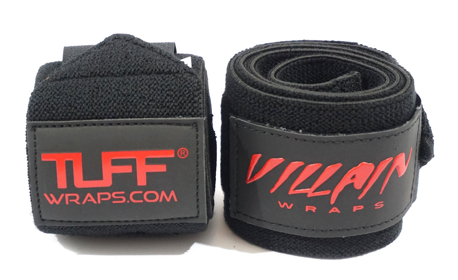Villain Wrist Wraps 16'' for Powerlifting, Weightlifting, Strongman Training, Crossfit - (All Black, 16 Inches)