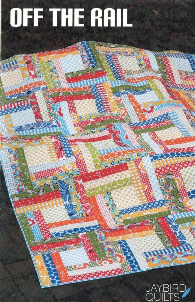 Off The Rail Quilt Pattern, Fat Quarter Friendly, 4 Size Options Baby to King by Jaybird Quilts