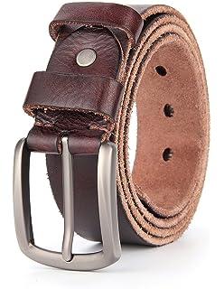 ROYALZ Vintage ceinture en cuir de buffle pour homme robuste de 4mm ... fec0bcadb02