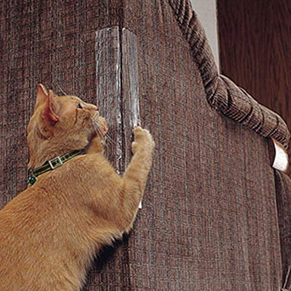 Mascotas Sofá Protector, Protectores de Muebles de Gatos, Muebles Antiarañazos Pegatina Transparente Autoadhesivo Rascador para Gato: Amazon.es: Productos ...