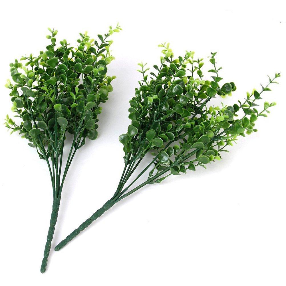 verde LEORX 2 Pcs casa piante Decorative plastica foglie pianta Aglaia Odorata per decorazione di nozze