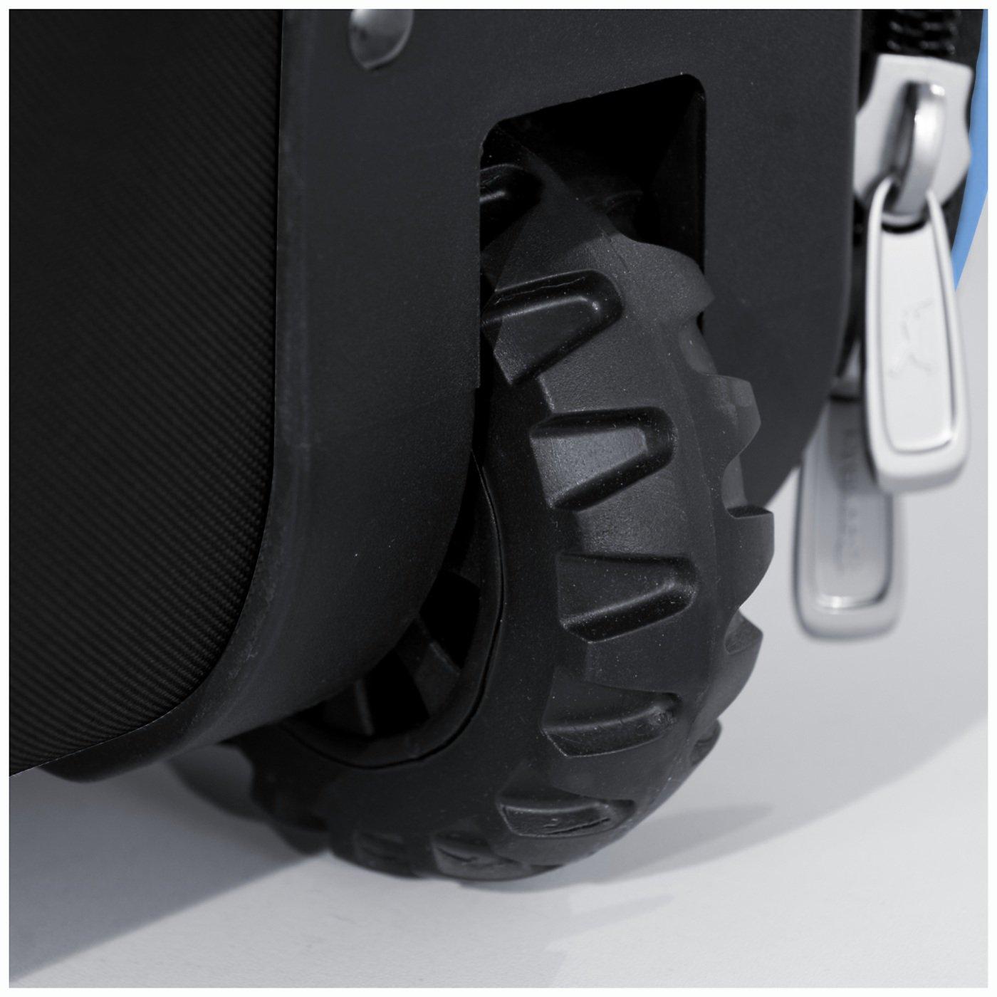 Boombah Beast Baseball/Softball Bat Bag - 40'' x 14'' x 13'' - Black/Columbia Blue - Holds 8 Bats, Glove & Shoe Compartments by Boombah (Image #5)