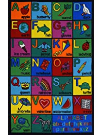 Play Time Kids Reversible Area Rug Alphabet ABC Learning Carpet Game Room  Design #01 (