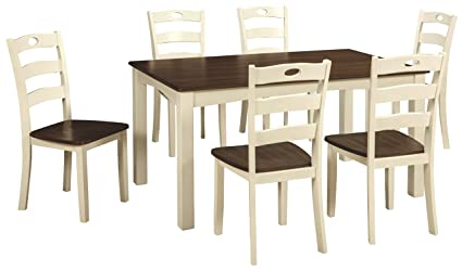 Ashley Furniture Signature Design   Woodanville Dining Room Table Set   Set  Of 7   Dining