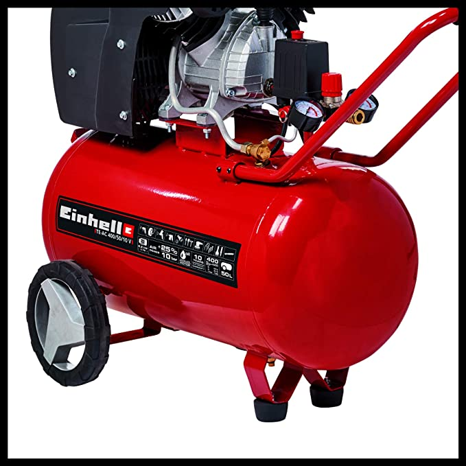 Einhell TE-AC 400/50/10 V Compresor 2200 W, 240 V, Negro, Rojo: Amazon.es: Bricolaje y herramientas
