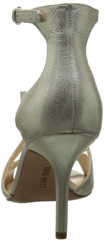 433d319555 Amazon.com | Nine West Women's Gerbera Metallic Heeled Sandal, Gold, 8.5 M  US | Heeled Sandals