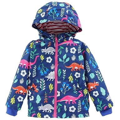 Bebé niño doble prenda abrigo capucha , Yannerr Chico invierno primavera Dibujos Dinosaurio encapuchados chaqueta sudadera