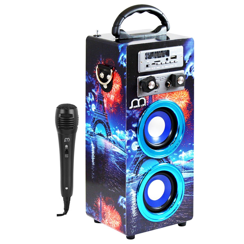 Diffusori da esterno Altoparlante Karaoke con microfono Bluetooth wireless Portatile Nuovo modello Modalità musicale Telecomando POP / ROK / NORMAL USB Reader, Smartphone Android Music Life