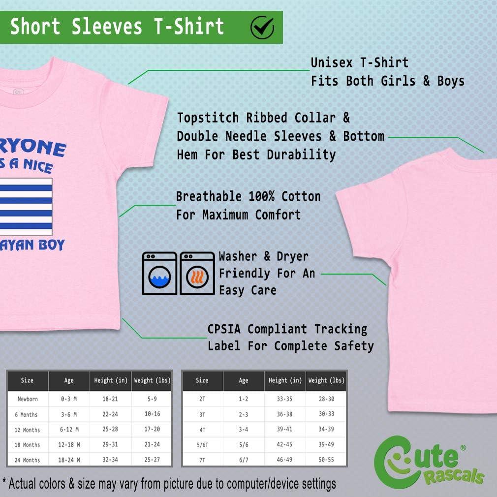 Custom Baby /& Toddler T-Shirt Everyone Loves A Nice Uruguayan Boy Cotton