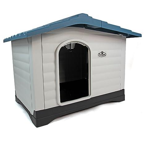 Caseta para perro de plástico XL, para el exterior o el interior gracias a la