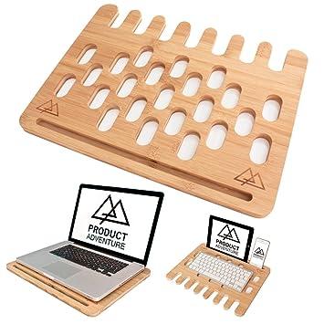 Bandeja de escritorio para ordenador portátil respetuosa con el medio ambiente, con tapón y con la ...