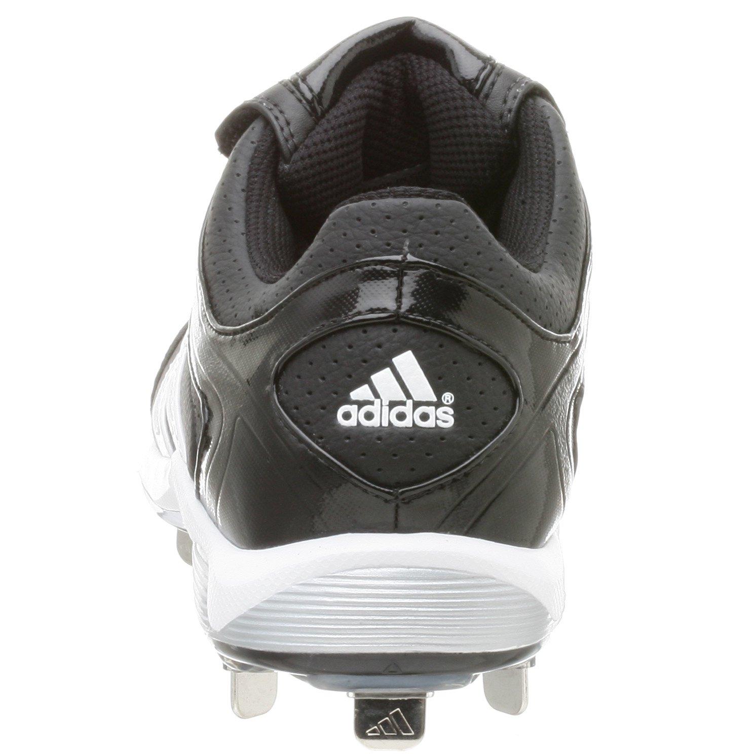 adidas Men's Diamond King Low Baseball Shoe,Blk/Runwht/Metsil,9.5 M by adidas (Image #3)
