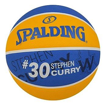 37a8f6de61 Bola de Basquete Spalding Nba Stephen Curry Golden State Warriors Tam 7 -  Amarelo+azul