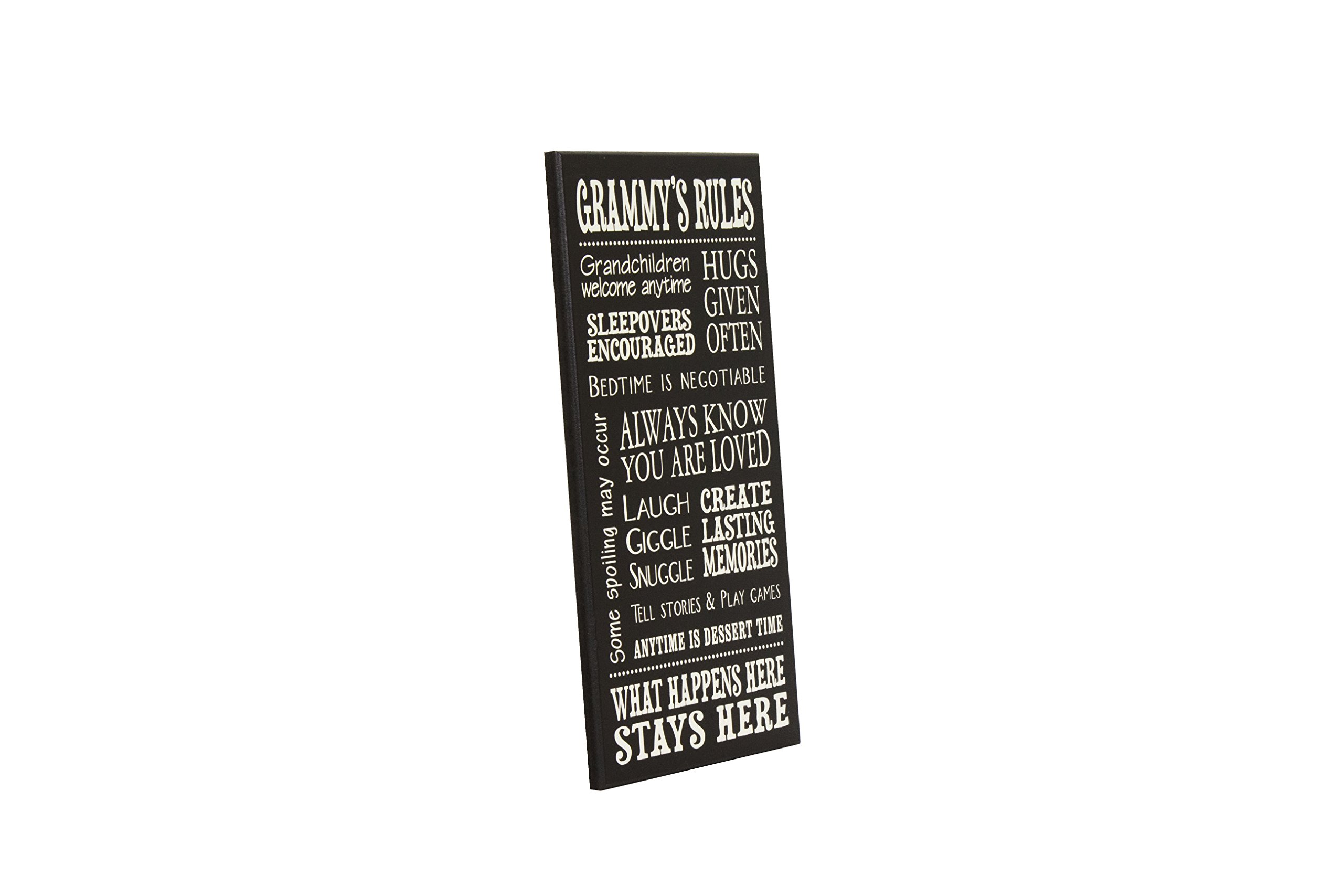 My Word! Grammy's Rules-8.5 x 16 Decorative Sign, Black with Cream Lettering by My Word! (Image #3)