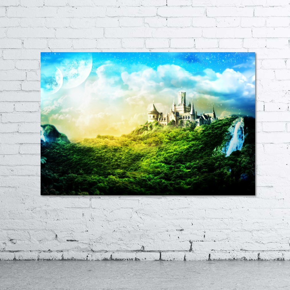 Fantasy Castle 30x20 Gallery Pro Frame (40mm) - Stretched & Mounted ...