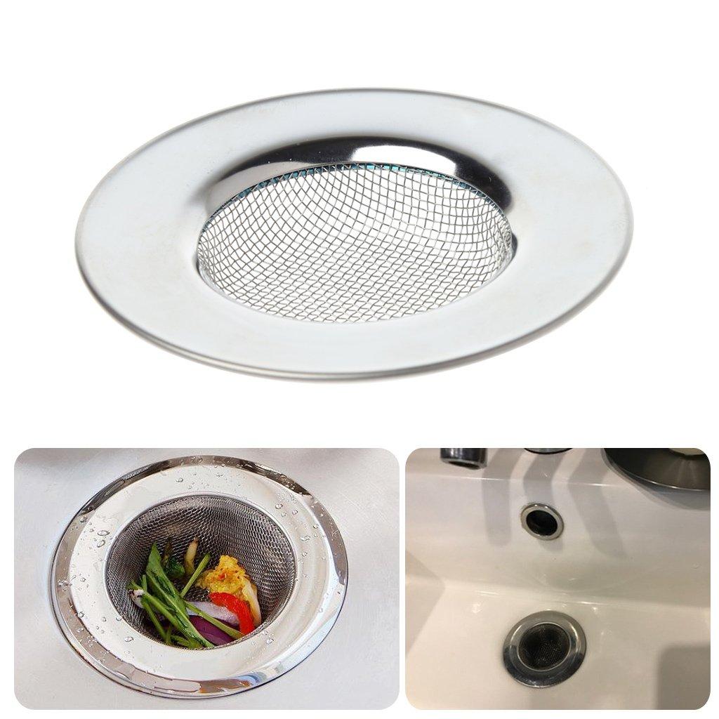 FATTERYU Filtro de desag/üe para Fregadero de Cocina de Malla de Acero Inoxidable