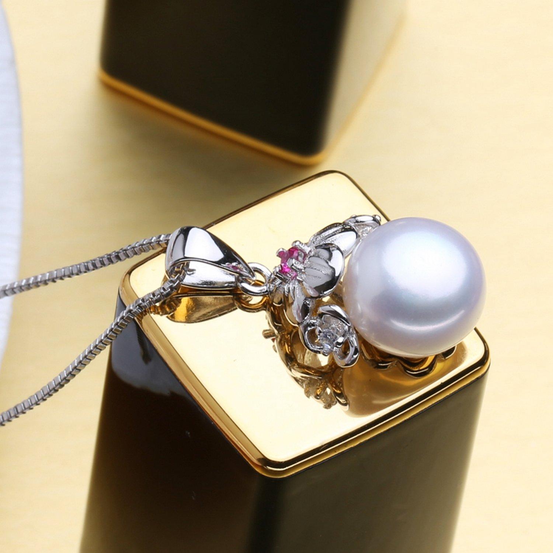 CS-DB Pendants Bohemian Ruby Pearl Silver Necklaces
