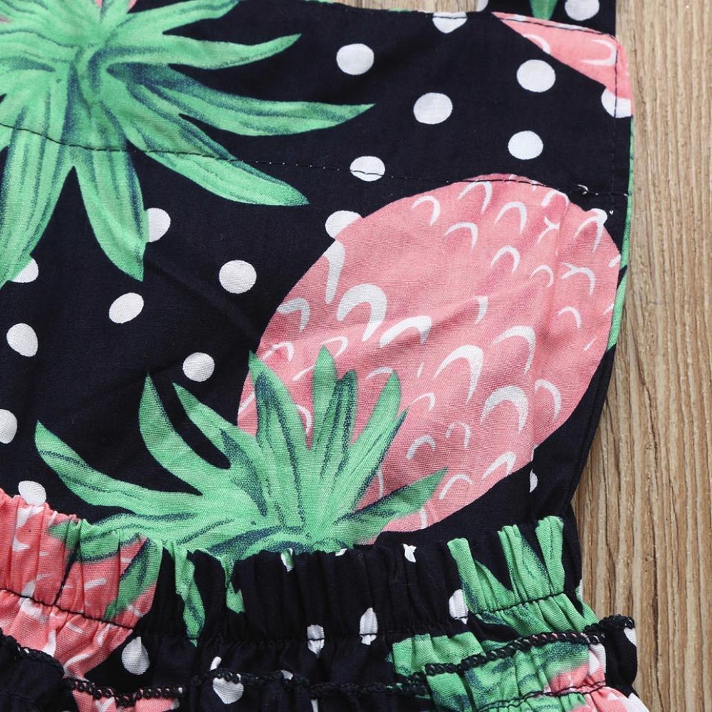 Highpot Baby Girl Pineapple Tassel Summer Romper Baby Jumpsuit Romper