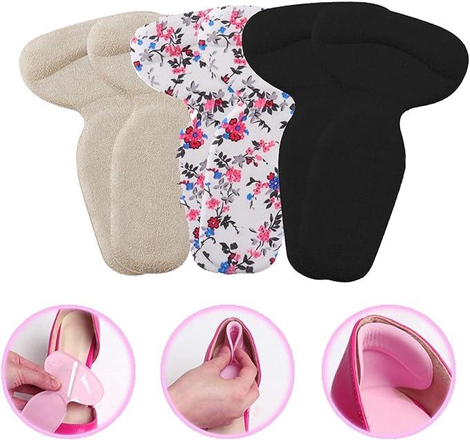 1Pair Back Shoe Heel Insert Insoles Pad Cushion Sponge Grip Foot Care Protector/>