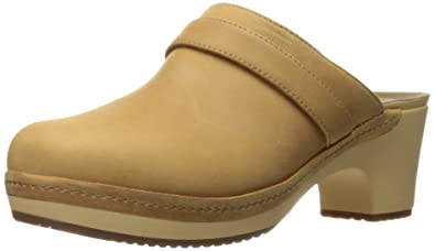 Crocs Women's Sarah Leather Clog Mule, Camel, ...