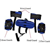 Body Maxx Kids Skating Safety Protective Gear Set of Knee, Elbow Support, Wrist Gaurd, Cap