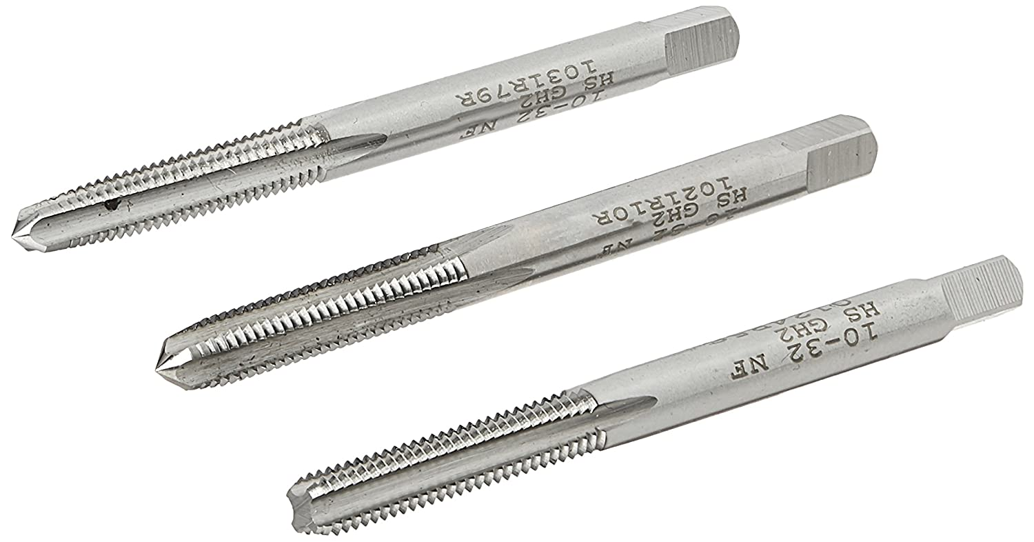 Plug and Bottom Taps H3 Limit Ground Threads Kodiak Cutting Tools KCT203630 USA Made Hand Threading Tap Set High Speed Steel Includes Taper 4 Flute Pack of 3 3//8-16 Size
