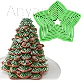 Anyana plastic 10 Pcs set 3D Gingerbread Star Decoration fondant Cookie cutters kit Biscuit for Christmas Tree gift