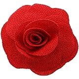 TOOGOO(R) Fleur Broche Epingle Corsage Barrette Rouge Floral Tissu Mariage Nuptiale Vintage