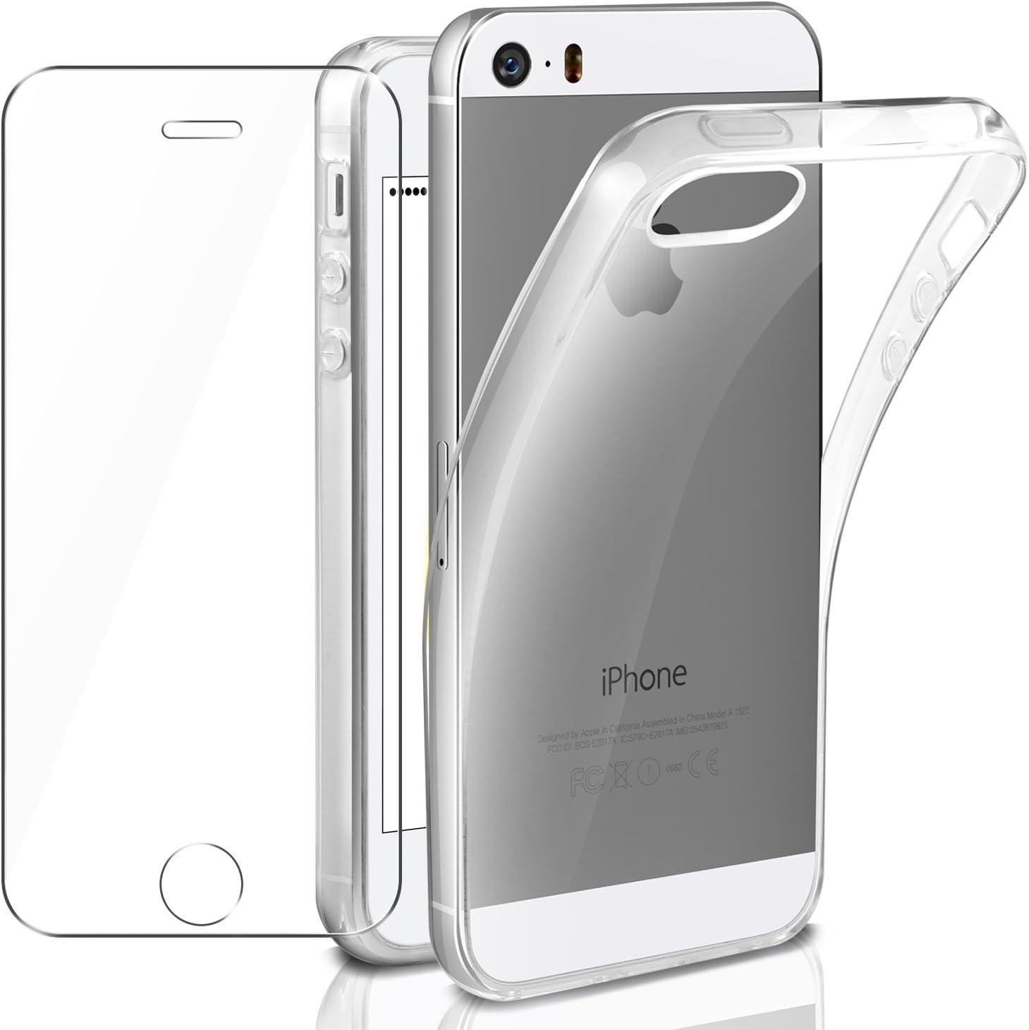 LAFCH HD Alta Trasparenza Pellicola Protettiva 1 Pezzi Vetro Temperato per iPhone SE//iPhone 5 iPhone 5s iPhone 5s Anti Graffi Vetro Temperato Pellicola Protettiva per iPhone SE//iPhone 5