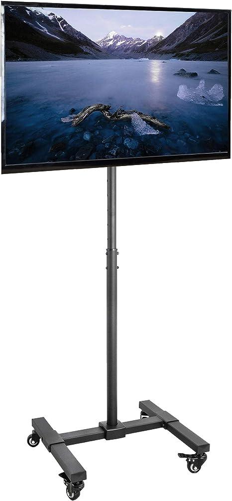 VIVO - Soporte de pantalla para TV móvil de 13 a 42 pulgadas LED LCD pantalla plana, soporte de piso rodante altura ajustable con ruedas (STAND-TV07W): Amazon.es: Electrónica