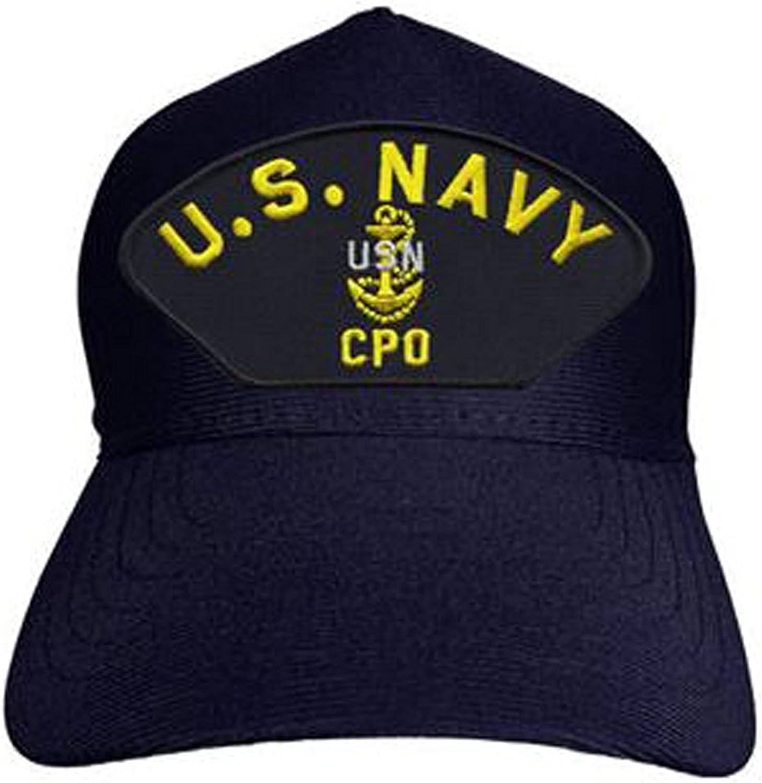 Navy Chief Petty Officer CPO Baseball Cap Made in USA Navy Blue U.S