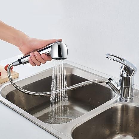 Auralum Küche Wasserhahn Ausziebar Küchenarmatur verchromt Mischbatterie  mit 360 schwenkbereich für küche spüle