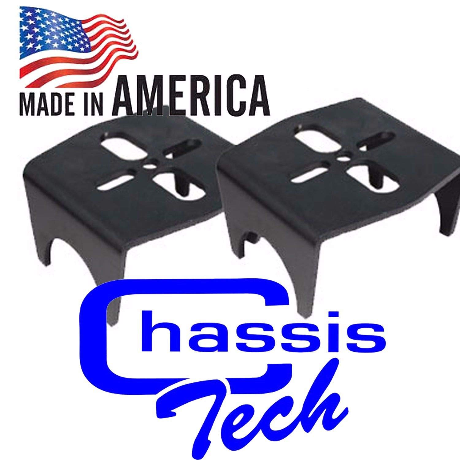 Chassis Tech Rear axle Lower air Bag mounting Brackets airride Suspension Weld on 3.50' Axle Unbranded