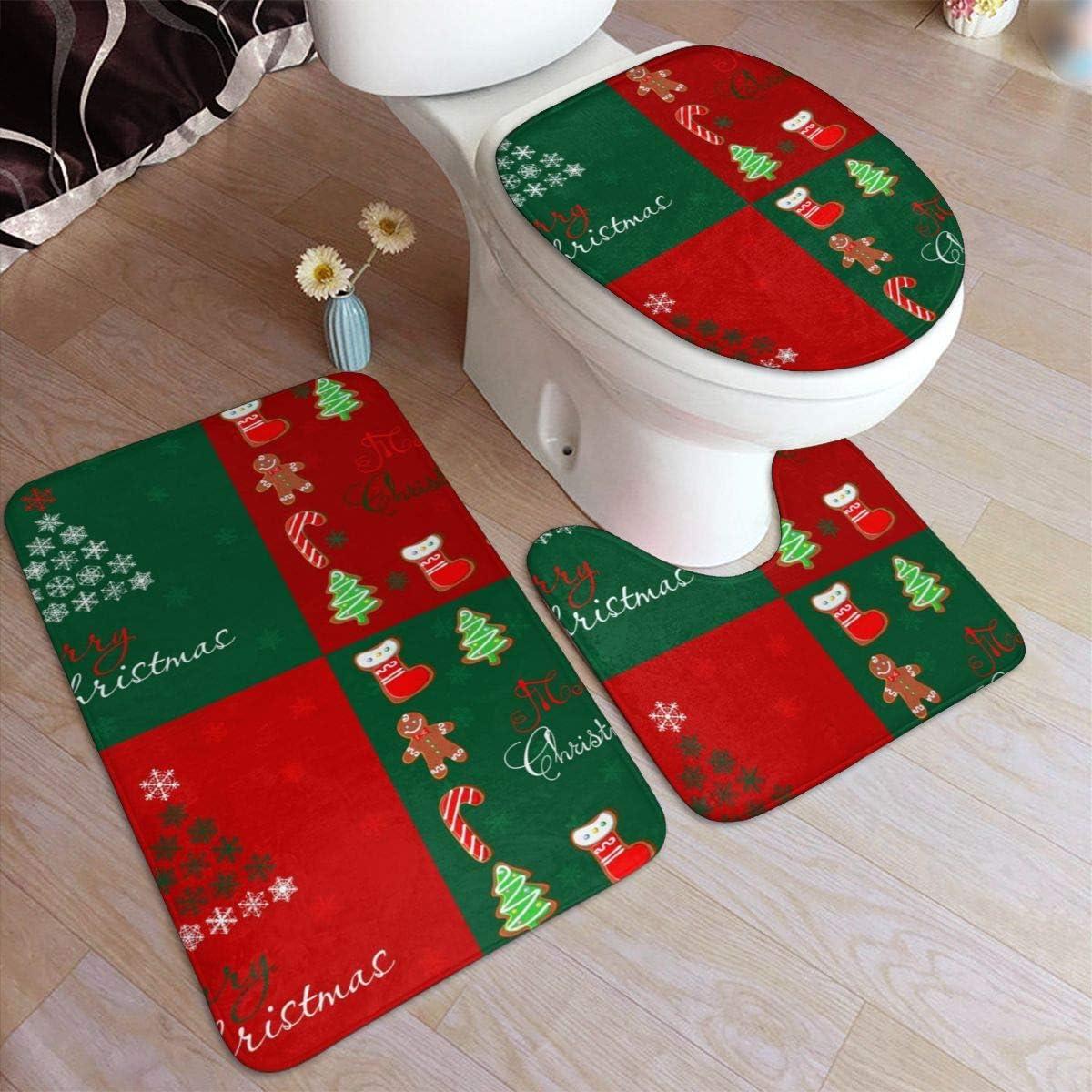 christmas bath rug mat